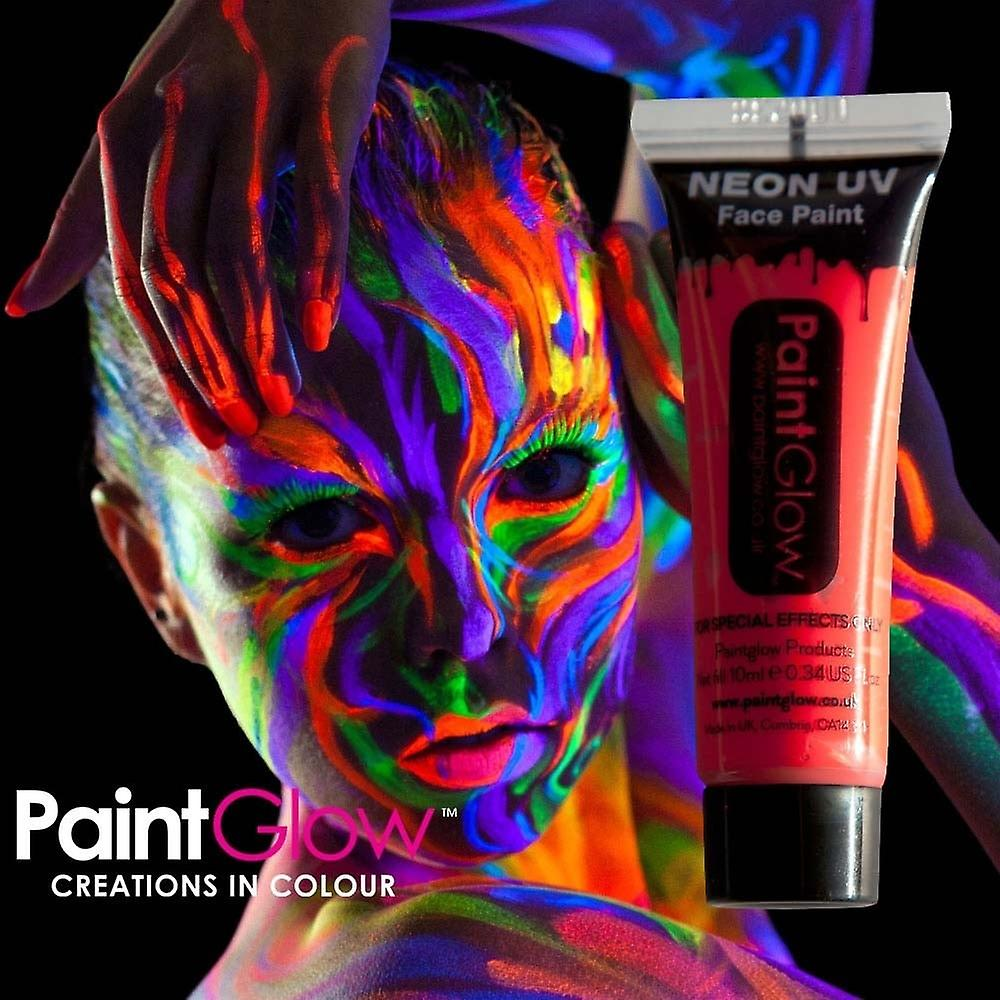 Wicked Costumes Paintglow Neon Uv Face & Body Paint Red