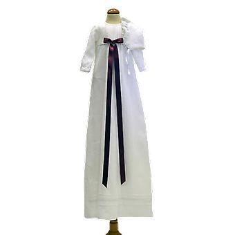 Dopklänning Grace Of Sweden, Ljung-rosa Rosett Och Dophätta  Tr.v.l