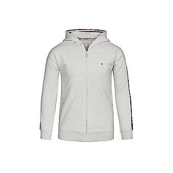 Tommy Hilfiger Girls Tommy Hilfiger Girl's Grey Tape Through Logo Hooded Jacket