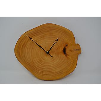Wood wall clock lime 26x23 cm clock tree slice clock wood clock wood decoration wood decoration decoration gift gift idea unique handmade Made in Austria