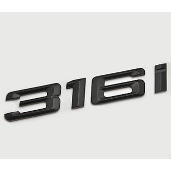 Matt Black BMW 316i Car Badge Emblem Model Numbers Letters For 3 Series E36 E46 E90 E91 E92 E93 F30 F31 F34 G20