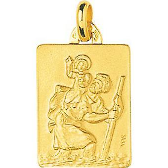 Pendentif Medaille StChristophe Or 375/1000 jaune (9K)