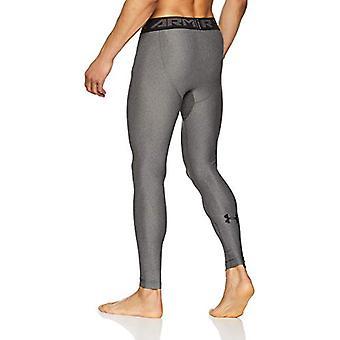 Under Armour Men's HeatGear Armour 2.0 Leggings, Carbon, Grey, Size Small