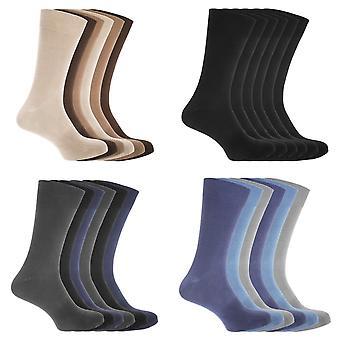 FLOSO Mens katoen Mix Lycra sokken (Pack van 6)