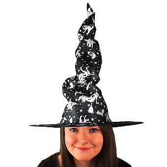 Scream Machine Unisex Adults Crooked Halloween Witch Hat