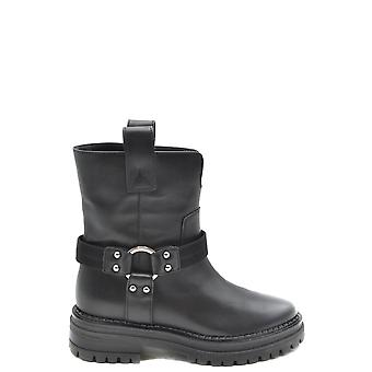 Sergio Rossi Ezbc040020 Women's Black Leather Boots
