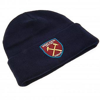 West Ham United FC Adults Unisex Knitted Turn Up Hat