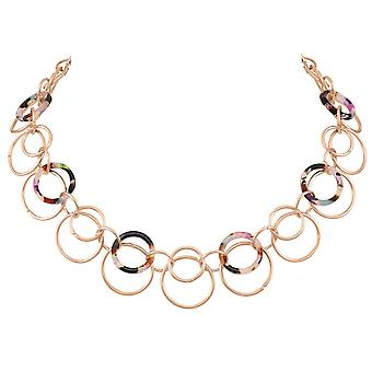 Eternal Collection Meridian Tortoiseshell Resin Rose Gold Statement Necklace
