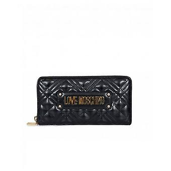 Love Moschino Accessories Quilted Logo Zip Around Purse