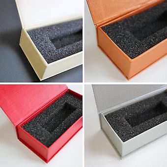4 x Magnetisk USB-presentation Presentboxar - Blandad Grädde / Röd / Grå / Orange