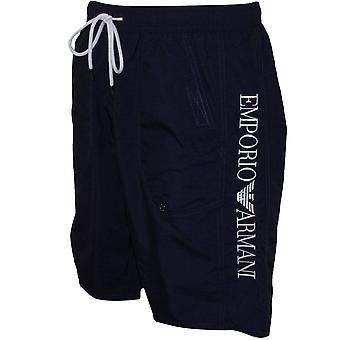 Emporio Armani Side Logo Board Shorts, Navy