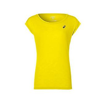 Short-sleeve Sports T-shirt Asics Layering Top Lady Yellow/S