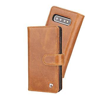 Pierre Cardin Leren Wallet Case Hoesje Samsung Galaxy S10 Plus - Bruin