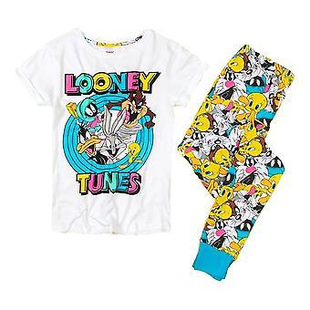 Women's Looney Tunes Tegn Cuffed Pyjamas Set