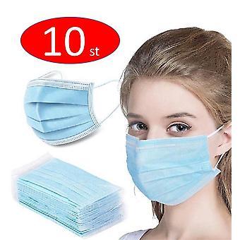 10PCS Cara protectora desechable máscara antipolvo munskydd mundschtuz