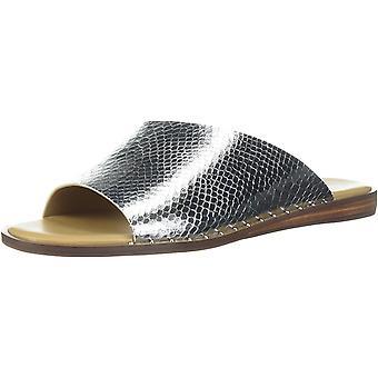 Franco Sarto Women's RYE Flat Sandal, Zilver, 5,5 M US