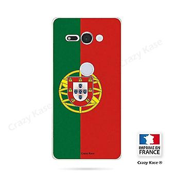 Hull For Sony Xperia Xz2 Compact Soft Pattern Portuguese Flag