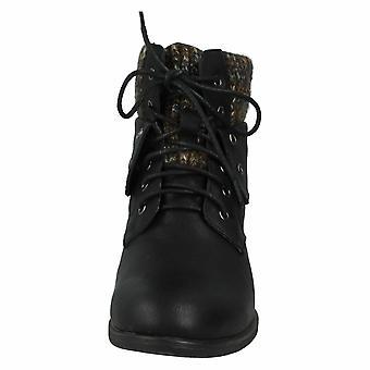 Das mulheres/senhoras meados calcanhar renda acima do tornozelo botas local