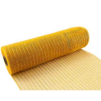 Metallic Gold 25cm x 9.1m Deco Mesh Roll for Wreath Making, Floristry & Crafts