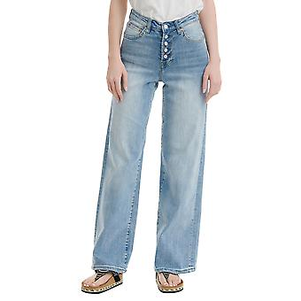 Funky Buddha Women's Wide Leg Fit Jeans In Used Look
