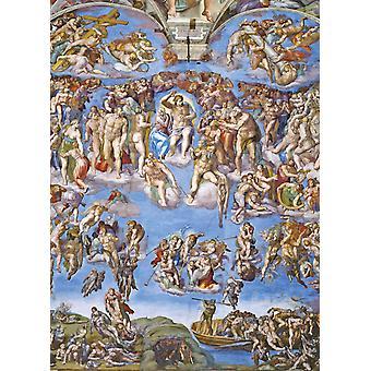 لغز بانوراما مجموعة متحف فاتاكاني الحكم العالمي مايكل آنجلو (1000 قطعة)