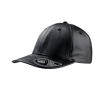 Atlantis Lewis Mid Visor PU Leather 6 Panel Cap