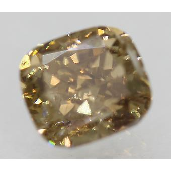 Cert 1.02 Carat Int Brown VS1 Cushion Natural Loose Diamond For Ring 5.84x5.33mm
