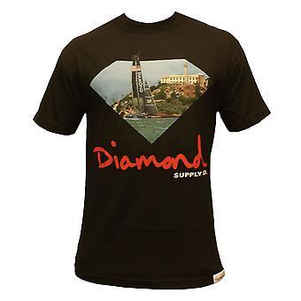 Co de suministro de diamantes YCSF camiseta negro
