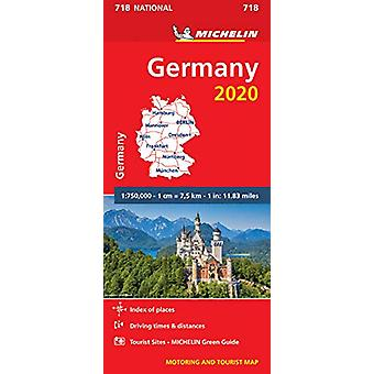 Germany 2020 - Michelin National Map 718 - Map - 9782067244047 Book