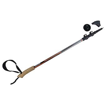 regatta nordic walking and hiking pole black with ergonomic cork handle