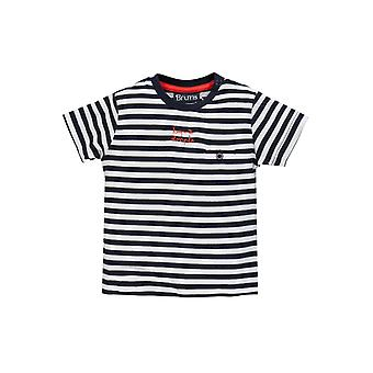 Brums Milano Striped Jersey T Shirt With Pocket