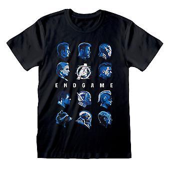 Męska koszulka Avengers Endgame Tonal Heads Black T-Shirt