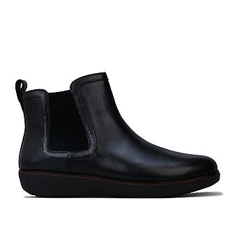 Women's Fit Flop Chai Leather Chelsea Boots in Black