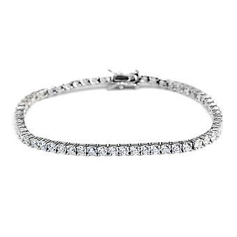 TJC Tennis Armband für Frauen Sterling Silber Größe 7