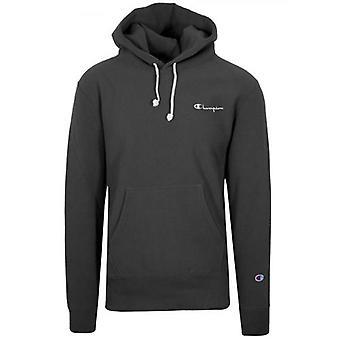 Champion Omvänd Väva Svart Hooded Sweatshirt