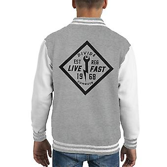 Divide & Conquer Live Fast Wrench Kid's Varsity Jacket