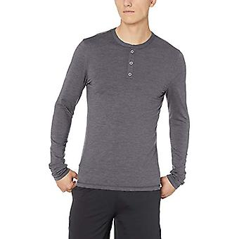 Peak Velocity Men's Thermal Long Sleeve Athletic-Fit Henley, Medium Grey Heat...