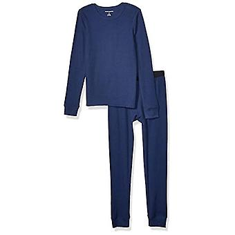 Essentials Boy's Thermal lange Unterwäsche Set, Marine, X-Large