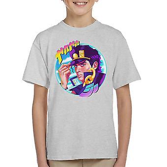 Jotaro Retro Circle JoJos Bizarre Adventure Kid's T-Shirt