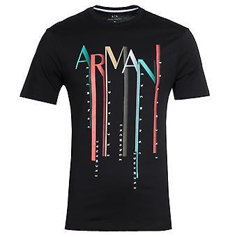 Armani Exchange Print Camiseta Preta