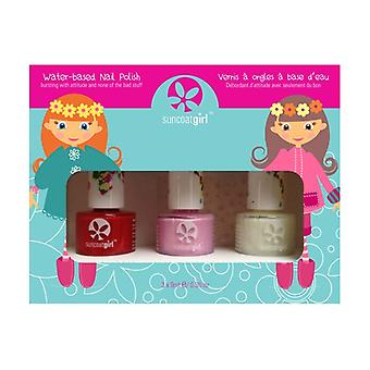 Ballerina Beauty Enamel Kit for Children 3 units of 9ml