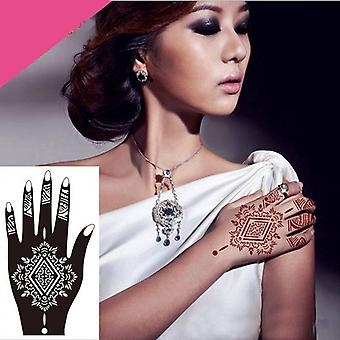 Professional Big Diy Tool Glitter Temporary Tattoo Stencil Of Lace Rose, Lotus