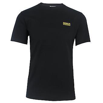 Barbour international men's black small logo t-shirt