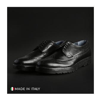 Italian Eagle - Shoes - Moccasins - 300_VITELLO_NERO - Men - Schwartz - EU 41