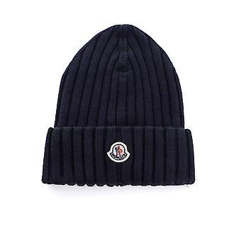 Moncler 9z70800a9327778 Women's Blue Wool Hat