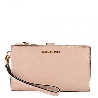 MICHAEL Michael Kors Adele Pebbled Leather Smartphone Wallet Soft Pink