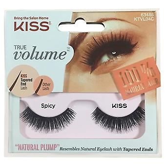 Kiss True Volume Tapered End False Lashes - Spicy - Lash Adhesive Included