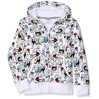 Brand - Spotted Zebra Toddler Fleece Zip-Up Hoodies, Junk Food Monster...