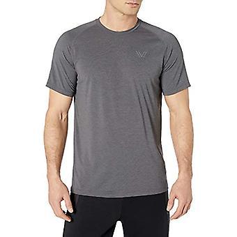 Peak Velocity Men's VXE Short Sleeve Quick-dry Loose-Fit T-Shirt, Dark Grey H...