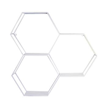 Hexagonal Metal Shelf with D-Ring